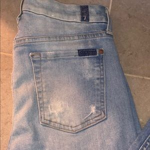 7️⃣ FOR ALL MANKIND ripped light jeans size 27